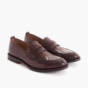 J.Crew Oar Stripe penny loafers in Italian leather